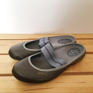 Teva Gray Slip On Sandals